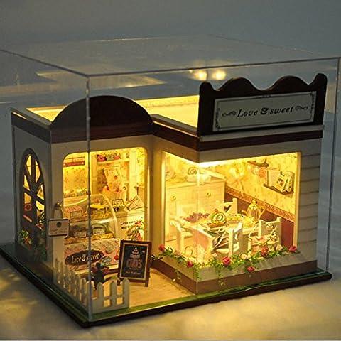 XENO-Lovely Sweet Cake Store Miniature Doll House DIY Handmade Craft Girls Toys GIFT (Digimon Miniatures)