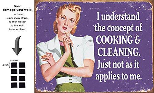 (Shop72- Tin Signs Ephemera - Cooking and Cleaning Retro Tin Sign Vintage Tin)