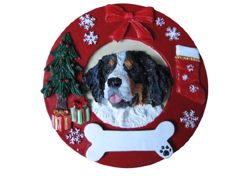 Bernese Mountain Dog Ornament Personalized and Hand Painted Measures 3.75 Inches Diameter ()