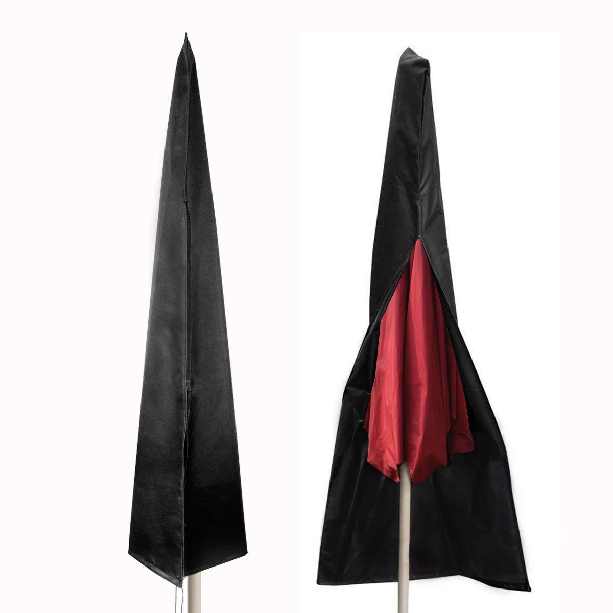 bedee Housse de Protection pour Parasol Classique, 210D Oxford Couverture (Diamètre de Parasol 2.4-3.5m), Antipoussière Imperméable Résistant aux UV Intempéries, avec Sac de Rangement