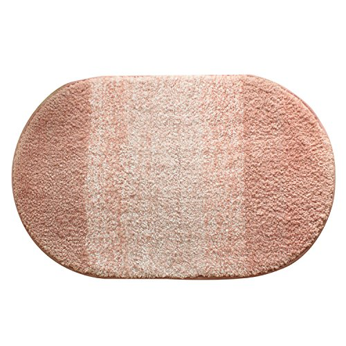 HOMIGOO Oval Shaped Rug Pink Mat For Kids Room Shaggy And Soft Rugs For Bedroom/Bathroom Non-Silp Entrance Doormat