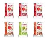 Bare Organic Apple Chips 2.2oz Variety Pack, Gluten Free + Baked, 6 Count