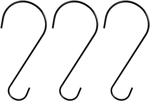 MOLYHUA Heavy Duty Edelstahl S-Haken Gestellaufh/änger zum Aufh/ängen von K/üchengeschirr Pfanne T/öpfe Utensilien Kleidung Taschen Handt/ücher Pflanzen 36 St/ück S-f/örmige Haken