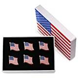 Exquisite American Flag Necktie Clip and Lapel Pin -The...