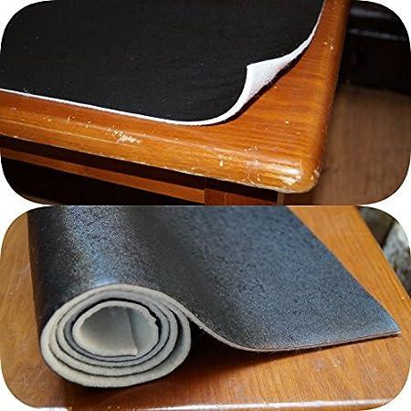 AKAKUS DARK - Juego de mantel protector de mesa de piel negra con ...