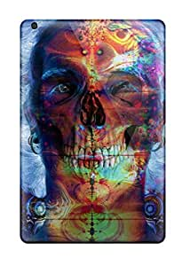 High Quality Shock Absorbing Cases For Ipad Mini-psychedelic Skull