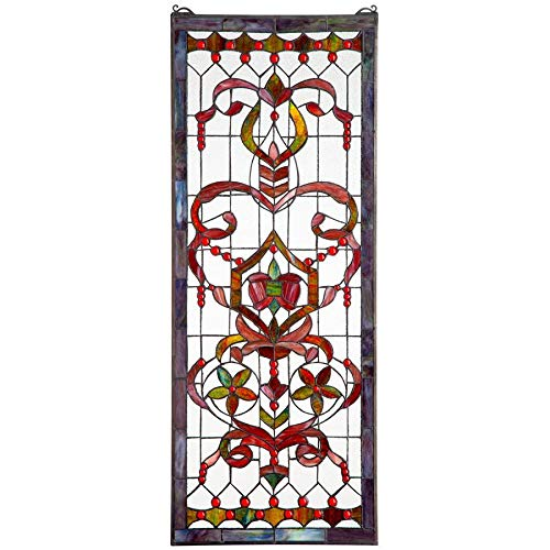 - Stained Glass Panel - Delaney Manor Stained Glass Window Hangings - Window Treatments