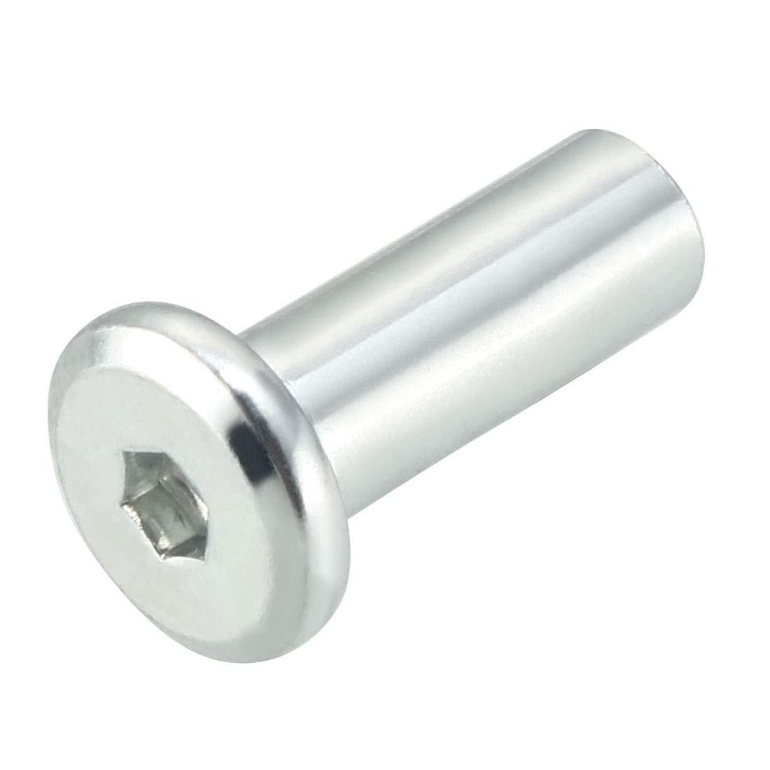 sourcingmap 25pcs M6 Rivet Hex Socket Head Cap Screw Barrel Nut Furniture Hardware a15030400ux0178
