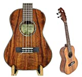 "Alulu Handmade Authentic Solid Hawaiian Koa Tenor 26"" Ukulele-BU Series. Classical Head, Satin or Shiny Finish Body. Including One Hard Case."