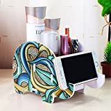 Mokani Desk Supplies Organizer, Creative Elephant Pencil Holder Multifunctional Office Accessories Desk Decoration with Cell Phone Stand Tablet Desk Bracket for iPad iPhone Smartphone and more