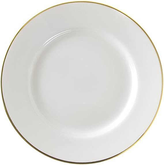 Set of 6 10 Strawberry Street 10.5 Triangle Dinner Plate White