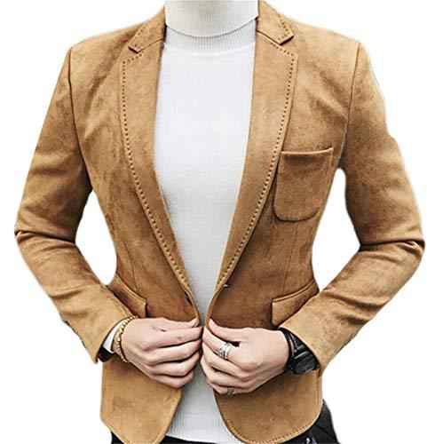 Vestes Blazer Kaki Vêtements Pour Mariage Loisirs Casual Bouton Un Slim D'affaires Élégant Suit De Hommes Le Fit w4HqqS