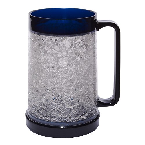 (Liquid Logic Double Wall Gel Freezer Mug with Color Infused Handle, 16 oz, Navy)