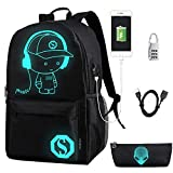 FLYMEI Anime Cartoon Luminous Backpack with USB
