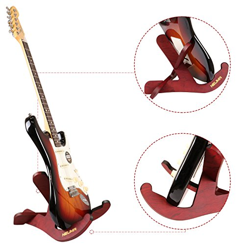 neuma wooden guitar stand musical instrument stand portable stand for acoustic classical guitars. Black Bedroom Furniture Sets. Home Design Ideas