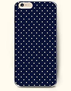 Case For HTC One M8 Cover with Design of White Dots In Blue BackgrouPolka Dot Series -OOFIT Authentic