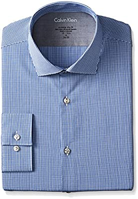 Calvin Klein Men's Xtreme Slim-Fit Gingham Shirt