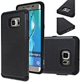Galaxy S6 Edge Plus case, E LV Samsung Galaxy S6 Edge Plus (SHOCK PROOF DEFENDER) Slim Case Cover **NEW** Full protection from drops and impacts for Samsung Galaxy S6 Edge Plus [Black]
