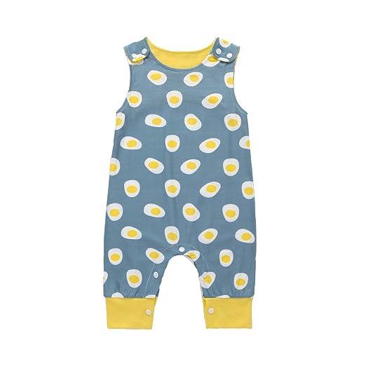 67003dcf2c19 Amazon.com  Sharemen Newborn Baby Boys Girls Print Romper Summer ...