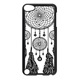 2015 customized Black and White DreamCatcher Protective Hard PC Back Fits Cover Case for iPod Touch 5, 5G (5th Generation)