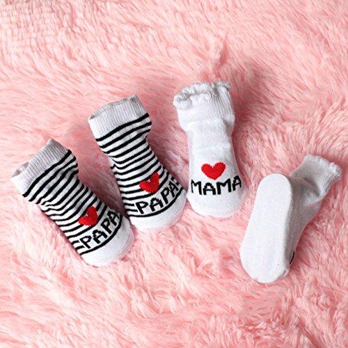 Outstanding® Lindo calcetines de bebé unisex del niño recién nacido suaves calcetines de algodón Blanco