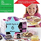 Girl Scout Cookie Oven Deluxe Refill Kit Caramel-Cookie Dough Mix, Fudge Brownies, Frostings & More Flavors! GSC OVEN (Lalaloopsy, Easy Bake Oven) 6 PACK Bonus Bundle by Mojo Stuff Galore