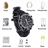 16-in-1 Water Resistant Survival Tactical Emergency Watch Bracelet Hiking Camping Kit Survival