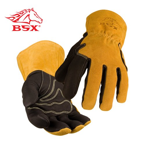 Revco BM88WP BSX Premium Grain Pigskin Palm with Water Proof Liner MIG Welding Gloves - 2X-Large (Waterproof Palm Gloves Pigskin)