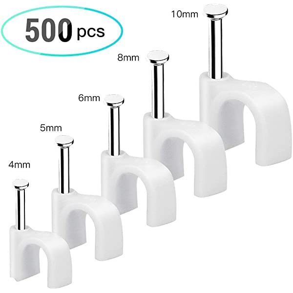 SELF ADHESIVE CABLE CLIPS-METAL 4MM SMALL PACK OF 10