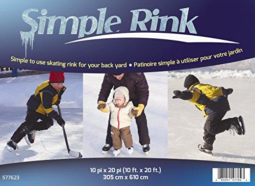 Gazebo Penguin 577623 Simple Skating Rink, 10-Feet x 20-Feet