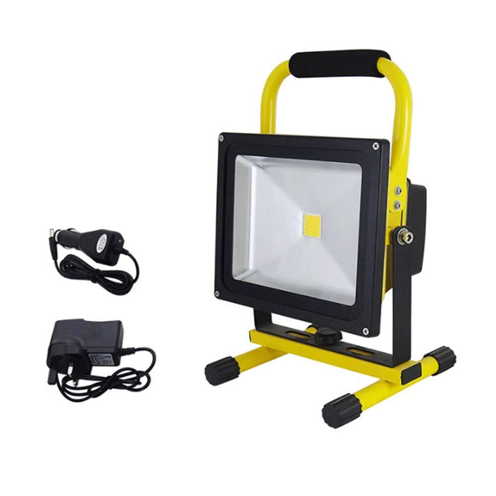 50W Led Work Light Rechargeable Floodlight, IP65 Waterproof Outdoor Emergency Handarbeitslampe für das Wandern,30W