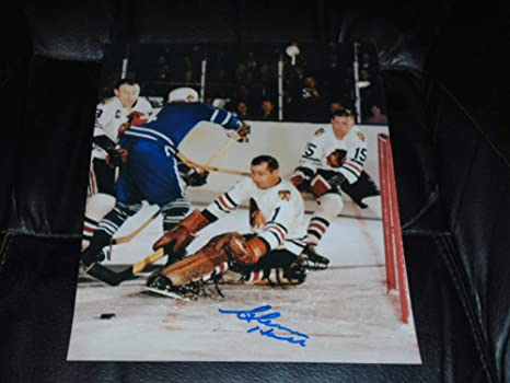 GLENN HALL CHICAGO BLACKHAWKS HALL OF FAME 8X10 SIGNED AUTOGRAPHED NHL  PICTURE 100 AUTHENTIC 9f9e25eb2