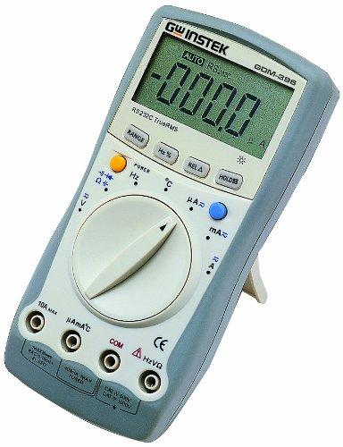 (GW Instek GDM-461 22000 Counts LCD Digital Display Handheld Multimeter with True RMS Measurement and RS-232C Interface, 220mV/2.2V/22V/220V/750V AC Voltage Range)
