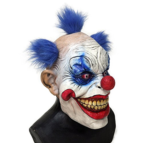 Evil Latex (HENGYUTOYMASK The Clown Circus Evil Grinning face Joker Pennywise Clown mask (Grinning face mask))