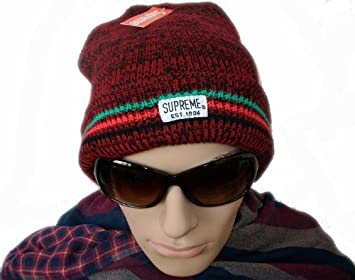 8d70bfcf2dc Image Unavailable. Image not available for. Colour  Supreme Ragg Wool Beanie --red