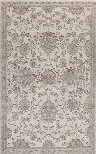 Rugs America RV600C Area Rug, 5' x 8', Cream from Rugs America