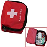 Mini Small First Aid Kit Outdoor Camping Hiking Survival Travel Medical Emergency Bag First Responder ,Red