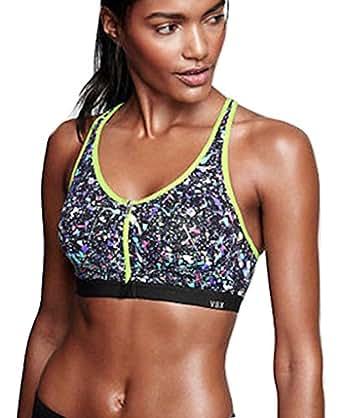 Victoria's Secret Knockout Front Close Sports Bra 32C Paint Splatter