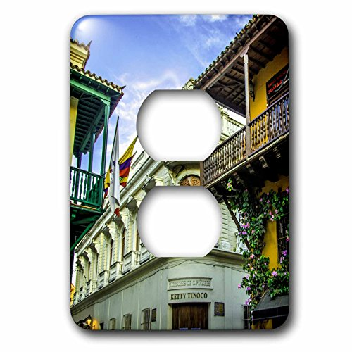 Danita Delimont - Architecture - Spanish colonial architecture, Cuidad Vieja, Cartagena, Colombia. - Light Switch Covers - 2 plug outlet cover - Outlets Las Viejas