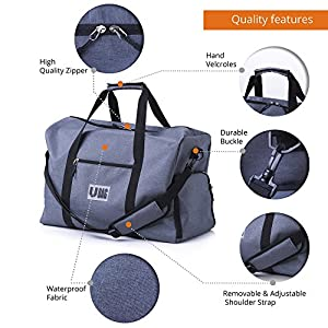 UBAG Travel Duffle Bag, Gym Bag or Weekender Duffel Bag for Women & Men