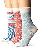 PACT Women's Spring Colors Organic Crew Sock Bundle 3-Pack