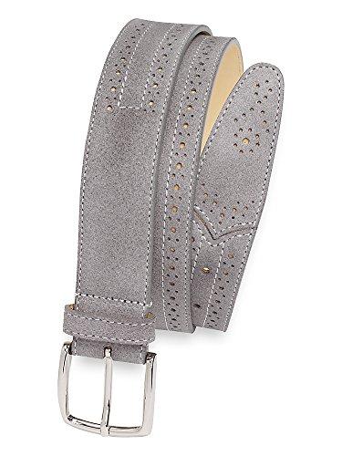 grey suede belt - 8