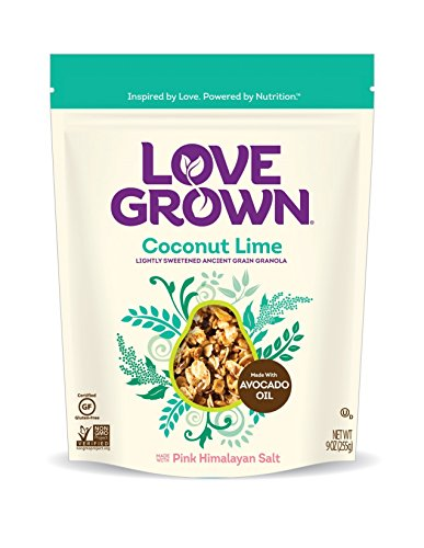 Love Grown Coconut Lime Granola, 9 oz. Bag, - Granola 9 Oz
