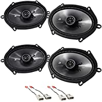 1994-1997 Ford Ranger Front+Rear Kicker 6x8 Speaker Replacement Kit