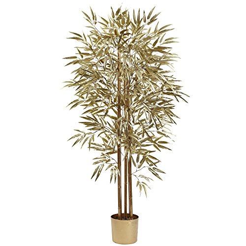 Nearly Natural 5395 Golden Bamboo Tree, 5-Feet