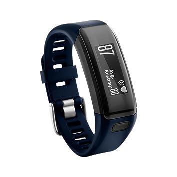 Para Garmin Vivosmart HR,Pulsera de repuesto de silicona suave Pulsera de pulsera correa de reloj ABsolute (Azul): Amazon.es: Deportes y aire libre