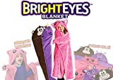 Bright Eyes Blanket - SUPER SOFT Snuggie for Kids - Hooded, Blanket, Robe - Comfy Throw Blanket, Brown Monkey; Warm Fuzzy Blanket - Machine Washable - Perfect for Sleepovers!