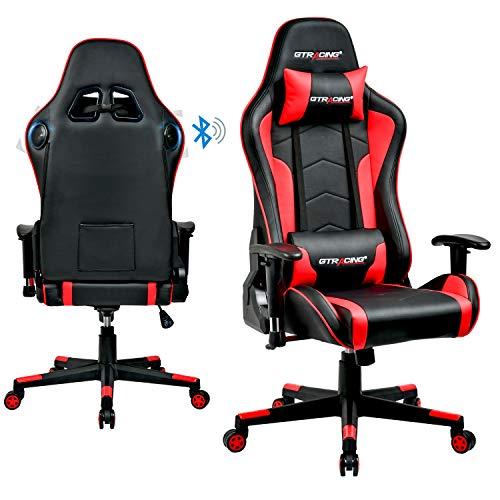 Gtracing Music Gaming Chair With Speakers Bluetooth Video
