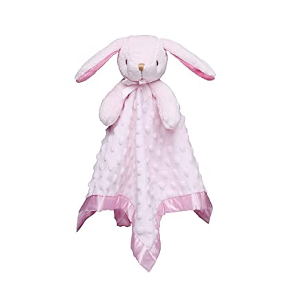 Luxurious Baby Girl Wrap//Blanket with Bunny Rabbit Comforter Toy Gift Set