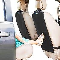 Kick Mats - Paquete de 2 - Estera protectora de primera calidad para el asiento del automóvil La mejor protección impermeable de su tapicería contra suciedad, lodo, rasguños - Cubiertas de respaldo extra grandes para asientos de auto de Enovoe